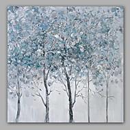 Maalattu Abstrakti / Kukkakuvio/Kasvitiede öljymaalauksia,Moderni / Classic 1 paneeli Kanvas Hang-Painted öljymaalaus For Kodinsisustus
