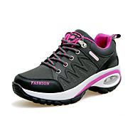 Feminino-Tênis-Conforto-Rasteiro-Roxo Vermelho Cinza-Couro Ecológico-Para Esporte