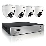 zosi®8ch 720p AHD DVR 4pcs камеры системы безопасности дома 1.0Mp