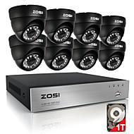 Zosi® 8ch 720p hdmi cctv видеомагнитофон 1tb 4шт 720p домашняя камера безопасности водонепроницаемые наборы для видеонаблюдения