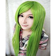 Mulher Perucas sintéticas Sem Touca Muito longo Liso Verde Peruca para Cosplay Peruca de Halloween Peruca de carnaval Perucas para