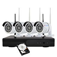 yanse® 1.3 메가 픽셀 h.264 1tb 4ch 무선 nvr 키트 960p wifi IR IP 카메라 방수 보안 시스템