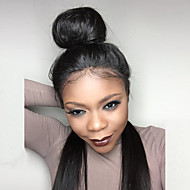 8A Long Straight Glueless Lace Front Human Hair Wigs Brazilian Virgin Hair With Baby Hair For Women