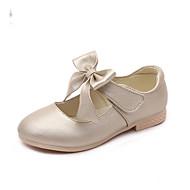 Tyttöjen Tasapohjakengät Comfort PU Kevät Syksy Kausaliteetti Comfort Kulta Valkoinen Pinkki Tasapohja