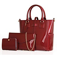 Női táska szettek PU Fekete Bíbor Piros Kék