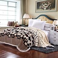 コーラルフリース マルチカラー,プリント ギンガム ポリエステル100% 毛布 W180 x L200cm  W200 x L230cm
