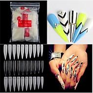 500pcs nakne hvite falsk nail art tips franske akryl uv salon nail art verktøy
