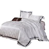 Cvijetan Poplun Cover Sets 4 komada Pamuk / Silk/Cotton Blend Luksuzno Jacquard Pamuk / Silk/Cotton Blend Bračni4kom (1 duvet Cover, 1