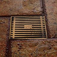 バスルームアクセサリーアンティーク真鍮仕上げ真鍮の床ドレン
