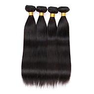 4 paquets d'extensions de tissus à cheveux rectilignes brésiliens 400 g