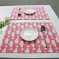 長方形 プリント パターン柄 プレイスマット , コットンブレンド 材料 ホテルのダイニングテーブル 表Dceoration