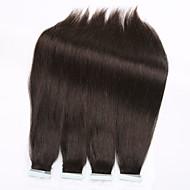 Nauha hiuksista laajentaminen 15 väriä 20kpl Brasilian suorat ihon kude hiusten pidennykset