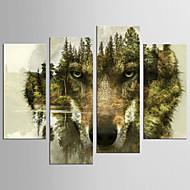 Abstraktní Zvíře Moderní evropský styl,Čtyři panely Plátno jakýkoliv tvar Grafika Wall Decor For Home dekorace