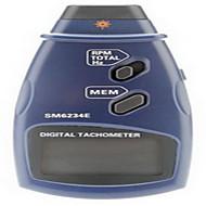 ammatillinen digitaalinen laser valokuva ei-yhteyttä kierroslukumittari rpm tach mittari (2,5 ~ 999.9rpm, 0.1rpm / 1rpm)