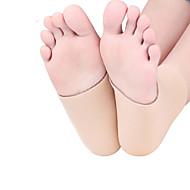 patinagem no tornozelo calcanhar manga gel capa protetora para sapatos cobre bege
