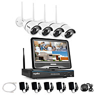sannce® 2,4g 10.1 LCD 4 canale HD 720p fără fir WiFi NVR 1500tvl în sistemul de securitate aparat de fotografiat / exterior IR cut ip