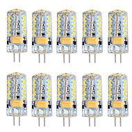 5W G4 LED Doppel-Pin Leuchten T 57 SMD 3014 300 lm Warmes Weiß Kühles Weiß Dimmbar AC 12 V 10 Stück