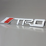 trd corridas de carro cromado emblema emblema tronco etiqueta do metal 3d decalque
