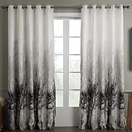 To paneler Vindue Behandling Rustik Soveværelse Polyester Materiale Gardiner forhæng Hjem Dekoration For Vindue