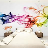 Floral Art Deco 3D Papel de Parede Para Casa Contemporâneo Revestimento de paredes , Tela Material adesivo necessário Mural , Cobertura