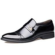 Herrer Sko Læder Forår Sommer Efterår Vinter Modestøvler Formelle sko Komfort Oxfords Nitte Til Afslappet Fest/aften Sort Brun