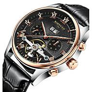 KINYUED Pánské Hodinky k šatům Hodinky s lebkou Náramkové hodinky mechanické hodinky Kalendář Chronograf Voděodolné Automatické natahování