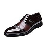 Masculino sapatos Courino Primavera Verão Outono Inverno Conforto Botas da Moda Sapatos formais Oxfords Cadarço Para Casual Festas & Noite