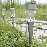 2 stuks gardern pathway gazonlampen landschap decoratie led wit licht zonne-energie grond insert zin lamp
