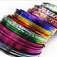 24PCS Mixs Color Merkintä Tape Line Nail Stripe Tape Nail Art Decoration tarra