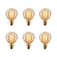 6db / tétel G80 E27 40W izzó Edison vintage retro lámpa izzólámpa (220-240)