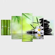 Maisema Tyyli Moderni,5 paneeli Kanvas Mikä tahansa muoto Painettu Wall Decor For Kodinsisustus