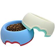 ネコ 犬 餌入れ/水入れ ペット用 ボウル&摂食 携帯用 レッド ホワイト グリーン ブルー プラスチック