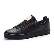 Herre Treningssko Komfort Vulkaniserte sko Lær Vår Sommer Høst Vinter Atletisk Avslappet Gange Komfort Vulkaniserte sko Snøring Flat hæl
