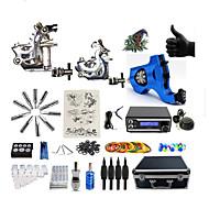 Полный комплект татуировки 2 х Металлическая тату-машинка для контура и заливки 1 х Роторная тату-машинка для контура и заливки 3
