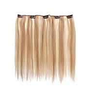 인간의 머리카락 확장 31g 5 클립 14inch 클립 스트레이트 헤어를 강조