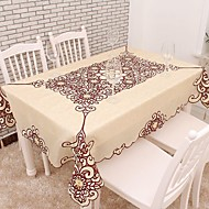 Embroidered Table Cloths , Cotton Blend materiaaliHotel ruokapöytä Häät Party Sisustus Häihin Illallinen Joulu Sisustus Favor Taulukko