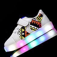 Jongens Sneakers Eerste schoentjes Oplichtende schoenen Kunstleer Lente Zomer Sportief Causaal Wandelen LED Lage hak Wit Zwart RozeOnder