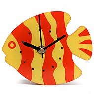 aimant plastique horloge orange bleu réfrigérateur cuisine Horloge murale magnets pour réfrigérateur poisson en plastique de conception de