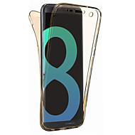 Para a galáxia s8 de samsung mais a tampa do caso s8 360 graus all-inclusive da separação material do tpu caso macio do telefone caso s7