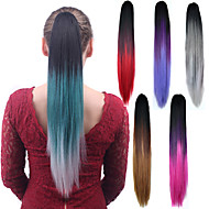 Uzun düz karışım renk ponytail kadın sentetik ucuz cosplay parti saç uzatma