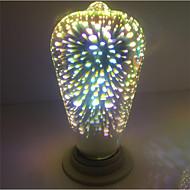 1ks e27 st64 4w 400-450lm ohňostroj 3d edison teplý bílý led globe žárovka ac85-265v