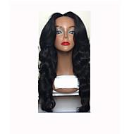 Femme Perruque Naturelles Dentelle Cheveux humains Lace Front Sans Colle Lace Front 130% Densité Ondulés Ondulation naturelle Perruque