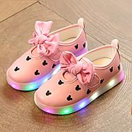 Para Meninas-Tênis-Light Up Shoes Shoe luminous Primeiros Passos-Salto Baixo--Couro Ecológico-Casamento Ar-Livre Casual
