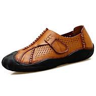 Miehet kengät Nappanahka Kesä Comfort Oxford-kengät Kävely Käyttötarkoitus Musta Ruskea