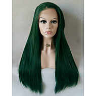 Long Straight Green Candy Colored Cosplay Heat Resistant Lace Front Wig