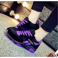 Sapatos de atletismo das mulheres mola conforto PU casual fúcsia roxo preto