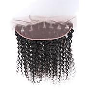 syvä aalto 13x4 pitsi edestä sulkeminen vauvan hiukset 8a Brasilian neitsyt hiukset 13x4 pitsiä sulkeminen valkaistun solmua korvien