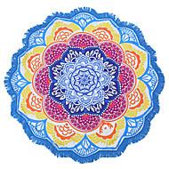Indisk mandala strandhåndkle stor lotus utskrift håndkle strand rundt bassenget hjem dusj håndkle teppe 150cm