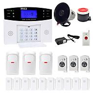 Danmini lcd wirless gsm / pstn hjemmekontor sikkerhet innbruddsalarm alarm system