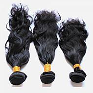 Menneskehår Vevet Peruviansk hår Naturlige bølger 18 måneder 3 hår vever